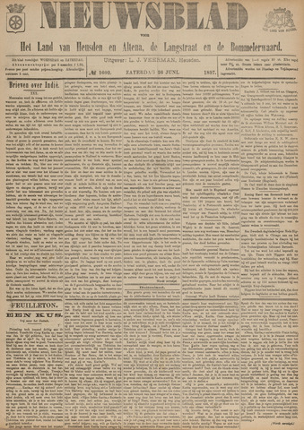 Nieuwsblad het land van Heusden en Altena de Langstraat en de Bommelerwaard 1897-06-26