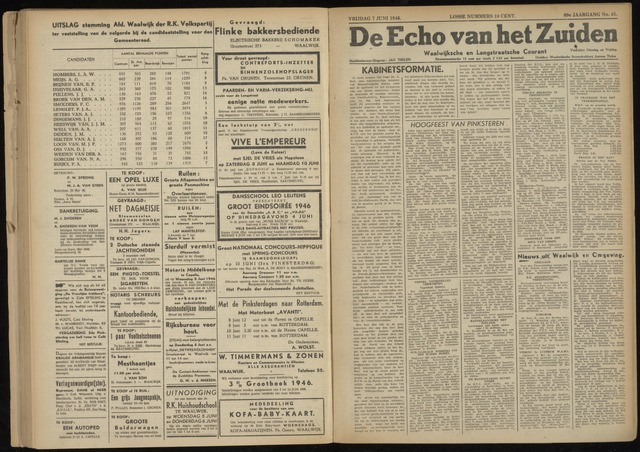 Echo van het Zuiden 1946-06-07