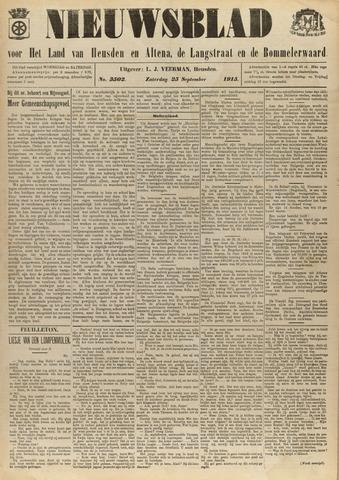 Nieuwsblad het land van Heusden en Altena de Langstraat en de Bommelerwaard 1915-09-25