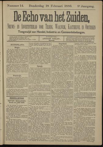 Echo van het Zuiden 1886-02-18