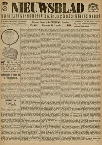 Nieuwsblad het land van Heusden en Altena de Langstraat en de Bommelerwaard 1922-09-20