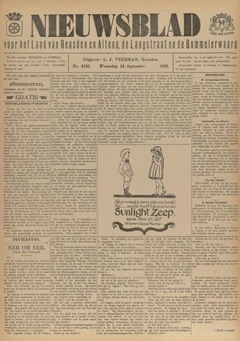 Nieuwsblad het land van Heusden en Altena de Langstraat en de Bommelerwaard 1921-09-14