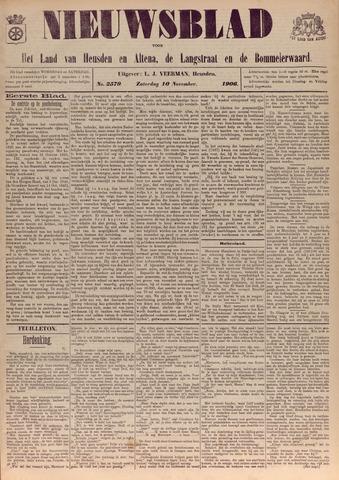 Nieuwsblad het land van Heusden en Altena de Langstraat en de Bommelerwaard 1906-11-10