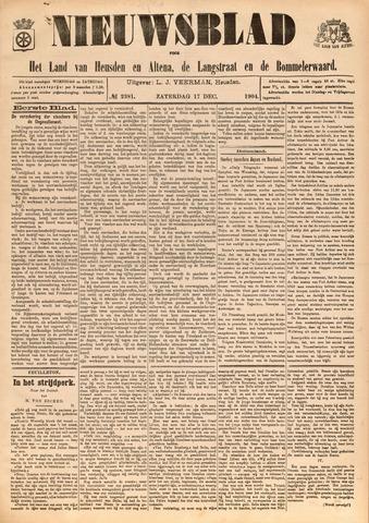 Nieuwsblad het land van Heusden en Altena de Langstraat en de Bommelerwaard 1904-12-17