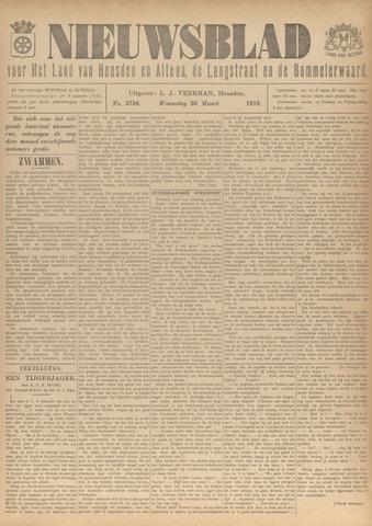 Nieuwsblad het land van Heusden en Altena de Langstraat en de Bommelerwaard 1918-03-20
