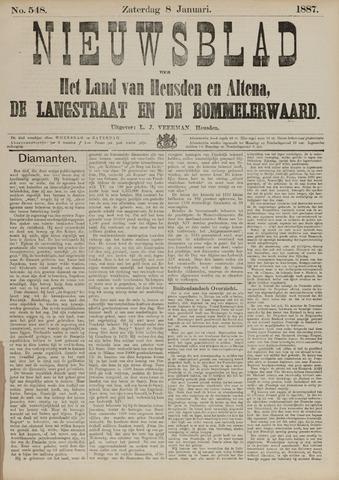 Nieuwsblad het land van Heusden en Altena de Langstraat en de Bommelerwaard 1887-01-08