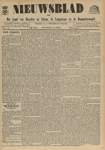 Nieuwsblad het land van Heusden en Altena de Langstraat en de Bommelerwaard 1904-09-14