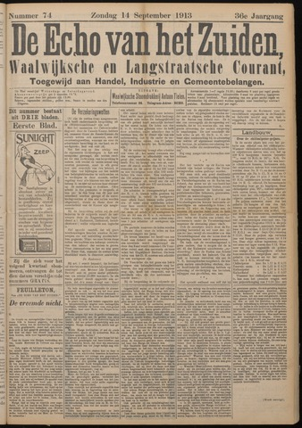 Echo van het Zuiden 1913-09-14
