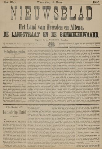Nieuwsblad het land van Heusden en Altena de Langstraat en de Bommelerwaard 1885-03-04