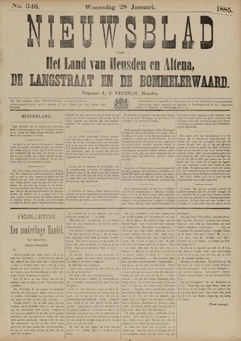 Nieuwsblad het land van Heusden en Altena de Langstraat en de Bommelerwaard 1885-01-28