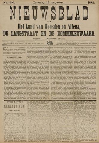 Nieuwsblad het land van Heusden en Altena de Langstraat en de Bommelerwaard 1885-08-15