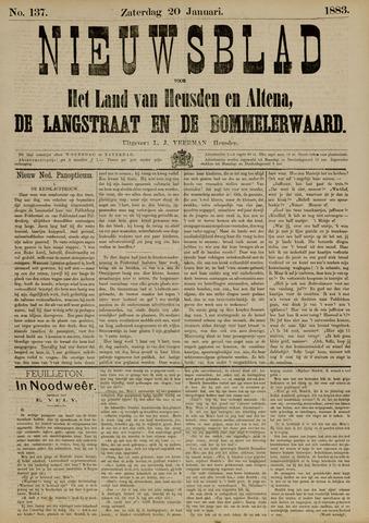 Nieuwsblad het land van Heusden en Altena de Langstraat en de Bommelerwaard 1883-01-20