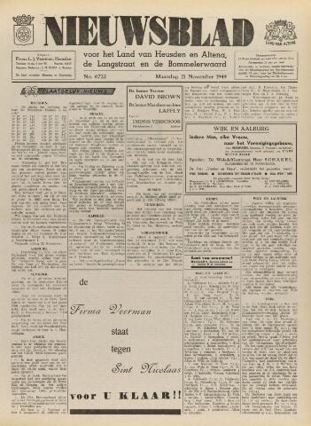 Nieuwsblad het land van Heusden en Altena de Langstraat en de Bommelerwaard 1949-11-21