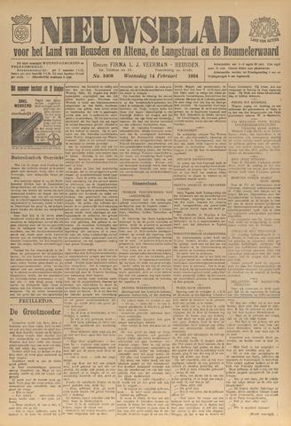 Nieuwsblad het land van Heusden en Altena de Langstraat en de Bommelerwaard 1934-02-14
