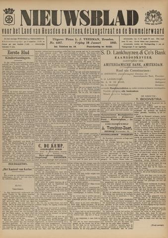 Nieuwsblad het land van Heusden en Altena de Langstraat en de Bommelerwaard 1925-01-16