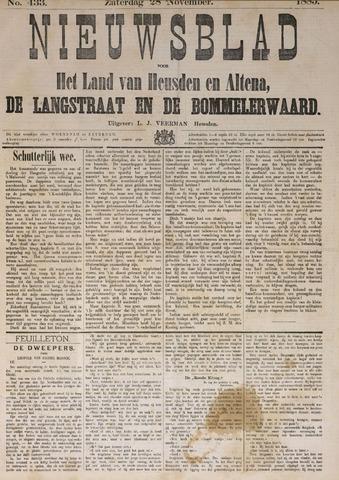 Nieuwsblad het land van Heusden en Altena de Langstraat en de Bommelerwaard 1885-11-28