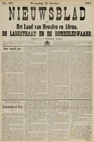 Nieuwsblad het land van Heusden en Altena de Langstraat en de Bommelerwaard 1883-10-31