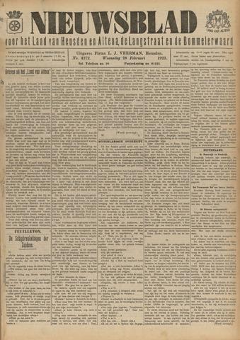 Nieuwsblad het land van Heusden en Altena de Langstraat en de Bommelerwaard 1923-02-28
