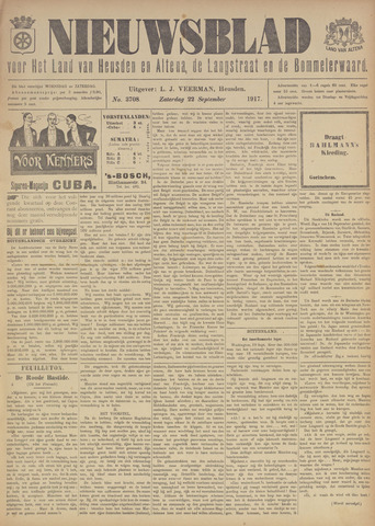 Nieuwsblad het land van Heusden en Altena de Langstraat en de Bommelerwaard 1917-09-22
