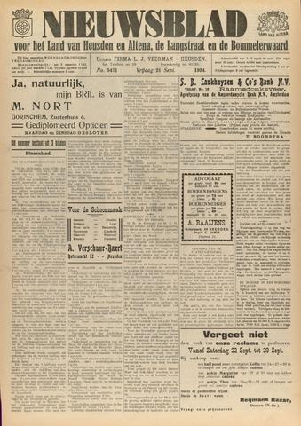 Nieuwsblad het land van Heusden en Altena de Langstraat en de Bommelerwaard 1934-09-21