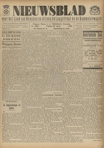 Nieuwsblad het land van Heusden en Altena de Langstraat en de Bommelerwaard 1923-04-20