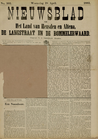 Nieuwsblad het land van Heusden en Altena de Langstraat en de Bommelerwaard 1883-04-18