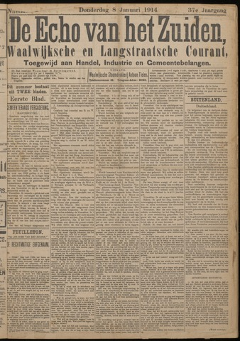 Echo van het Zuiden 1914-01-08