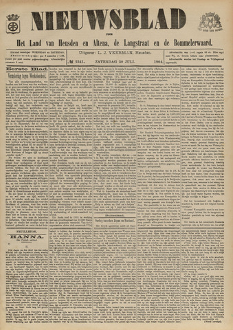 Nieuwsblad het land van Heusden en Altena de Langstraat en de Bommelerwaard 1904-07-30