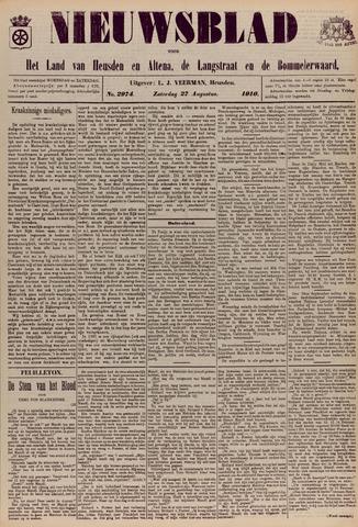 Nieuwsblad het land van Heusden en Altena de Langstraat en de Bommelerwaard 1910-08-27