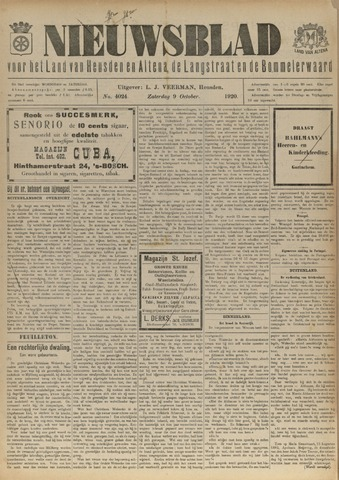 Nieuwsblad het land van Heusden en Altena de Langstraat en de Bommelerwaard 1920-10-09