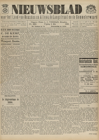 Nieuwsblad het land van Heusden en Altena de Langstraat en de Bommelerwaard 1923-05-04