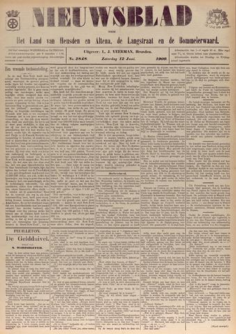 Nieuwsblad het land van Heusden en Altena de Langstraat en de Bommelerwaard 1909-06-12