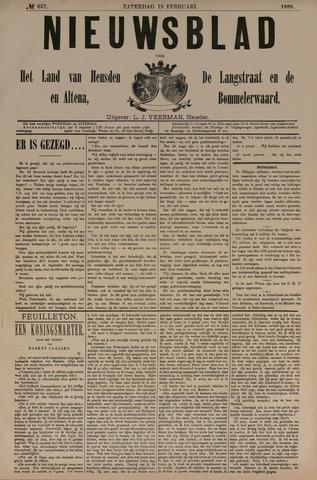 Nieuwsblad het land van Heusden en Altena de Langstraat en de Bommelerwaard 1888-02-18