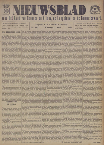 Nieuwsblad het land van Heusden en Altena de Langstraat en de Bommelerwaard 1917-04-11