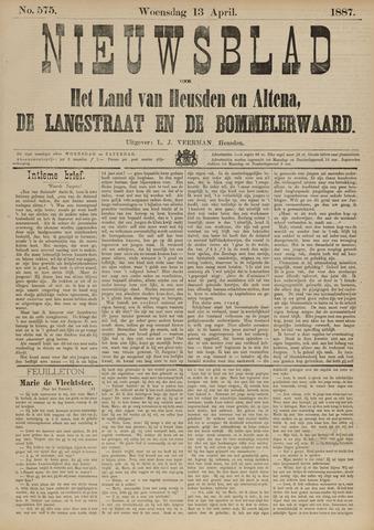 Nieuwsblad het land van Heusden en Altena de Langstraat en de Bommelerwaard 1887-04-13