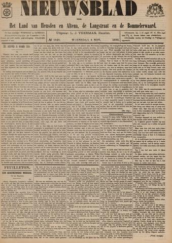 Nieuwsblad het land van Heusden en Altena de Langstraat en de Bommelerwaard 1899-11-08