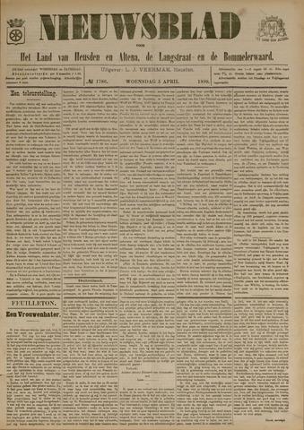 Nieuwsblad het land van Heusden en Altena de Langstraat en de Bommelerwaard 1899-04-05