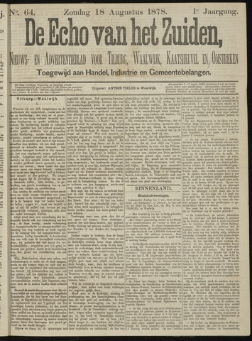 Echo van het Zuiden 1878-08-18