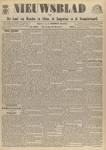 Nieuwsblad het land van Heusden en Altena de Langstraat en de Bommelerwaard 1911-12-28