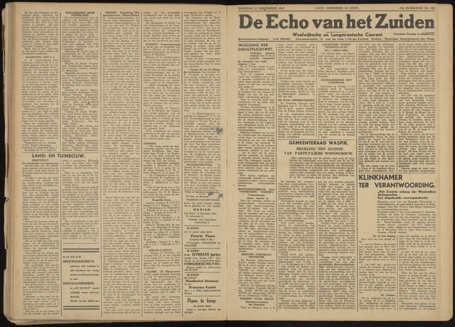 Echo van het Zuiden 1947-12-23