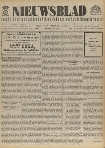 Nieuwsblad het land van Heusden en Altena de Langstraat en de Bommelerwaard 1921-06-28