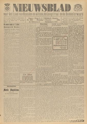 Nieuwsblad het land van Heusden en Altena de Langstraat en de Bommelerwaard 1928-11-07