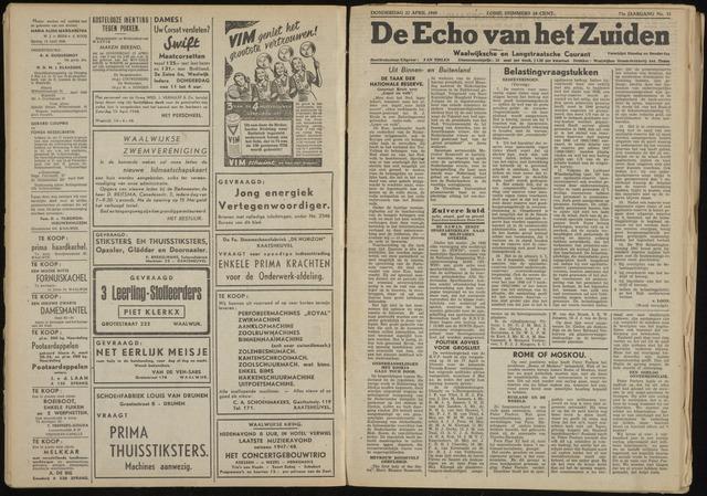 Echo van het Zuiden 1948-04-22