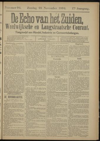 Echo van het Zuiden 1894-11-25