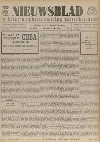 Nieuwsblad het land van Heusden en Altena de Langstraat en de Bommelerwaard 1918-08-24