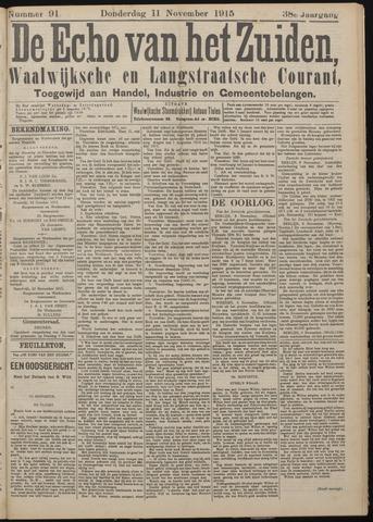 Echo van het Zuiden 1915-11-11