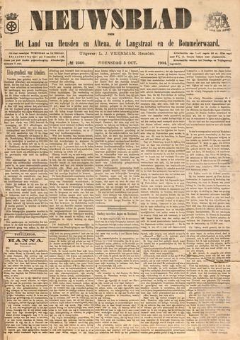 Nieuwsblad het land van Heusden en Altena de Langstraat en de Bommelerwaard 1904-10-05