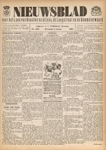 Nieuwsblad het land van Heusden en Altena de Langstraat en de Bommelerwaard 1922-01-04