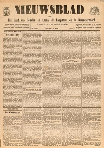Nieuwsblad het land van Heusden en Altena de Langstraat en de Bommelerwaard 1905-09-09