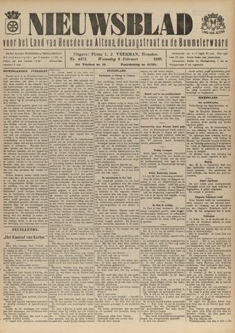Nieuwsblad het land van Heusden en Altena de Langstraat en de Bommelerwaard 1925-02-04